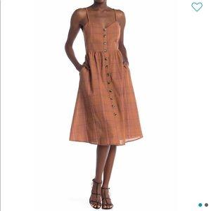 Know One Cares | Plaid Midi Dress sz L